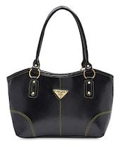 Black Faux Leather Formal Handbag - By