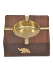Brown Wooden Cup Design Ashtray - By