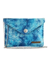 Blue Printed Cotton Sling Bag - By