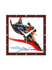 Multicolor Engineering Wood Devil May Cry Splash Wall Clock - By