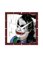 Multicolor Engineering Wood Joker's Style Wall Clock - By
