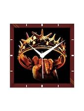 Multicolor Engineering Wood Game Of Thrones Crown Wall Clock - By