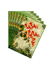 Leaf Designs Green Vintage Table Mats - Set Of 6 - By