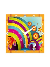Multicolor Engineered Wood Circle Abstract Wall Clock - By