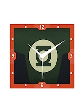Multicolor Engineered Wood Sign Of Green Lantern Wall Clock - By