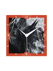 Multicolor Engineered Wood Justice League In Action Wall Clock - By