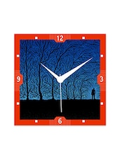 Multicolor Engineered Wood Moon Light Wall Clock - By