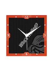 Multicolor Engineered Wood Who's Trolled Wall Clock - By