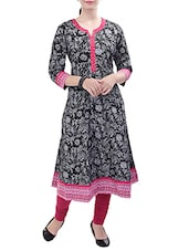 black cotton flared kurta -  online shopping for kurtas