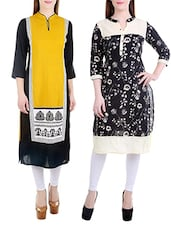 Multicolored Rayon Cotton Kurta Combo (Set of 2) -  online shopping for kurtas