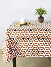 House This The Crazy Zigzags 100% Cotton Table Cover - Brown - By