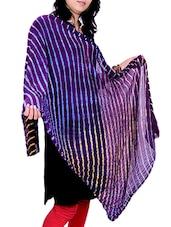 Purple Poly Chiffon Leheriya Dupatta - By