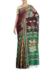Multi Color Art Silk Viscose Saree - By