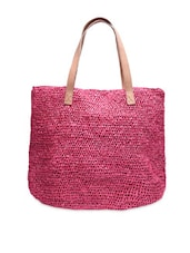 Solid Pink Knotted Plastic Bag - By