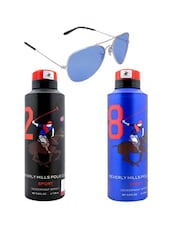 Beverly Hills Polo Club Sports Deodorants with Blue Aviator -  online shopping for Men Gift Sets