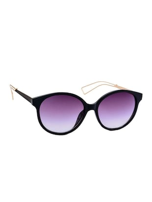 Stacle Designer Inspired Modern Temple Round Sunglasses (Black) (ST15153) - 12394301 - Standard Image - 2