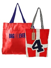 Multicolored Set Of Two Printed Tote Bags - By - 1242449