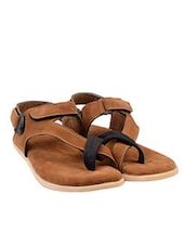brown Suede back strap sandal -  online shopping for Sandals