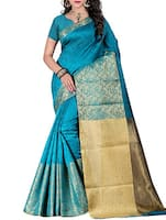blue art silk kanjivaram saree -  online shopping for Sarees