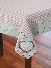 Table Cover With Printed Border And Embroidery - By