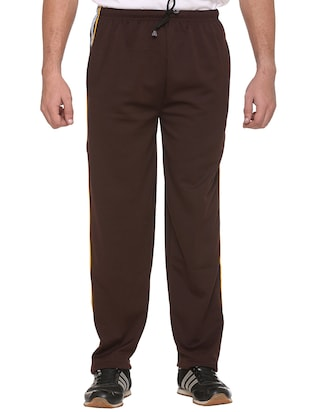 brown cotton  full length track pant