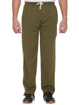 green cotton  full length track pant