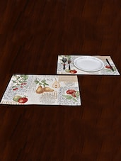 """Avira Home Fruity Magic Table Mat- Set Of 2-Jaquard Woven-Machine Washable- (13""""x19"""") - By"""