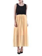 Black And Yellow Maxi Dress - By