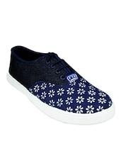 Blue Slip On Sneaker - By