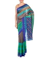 Multicolor Printed Bhagalpuri Silk Saree - By - 1247569