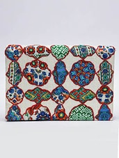 Multicoloured Patchwork Detailed Clutch - By