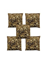 Homefab India Set Of 5 Velvet Cushion Covers (16X16 Inches) - By