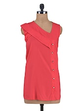 Solid Red Cotton Top - By