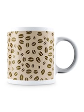 Multicolor Coffee Beans Pattern Ceramic Mug - By