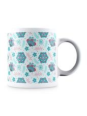 Multicolor Arabic Flower Pattern Ceramic Mug - By