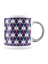 Multicolor Motif Pattern Ceramic Mug - By