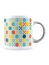 Multicolor Retro In Mosaic Style Pattern Ceramic Mug - By