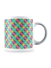 Multicolor Translucent Colorful Circles Pattern Ceramic Mug - By