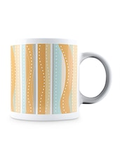 Multicolor Hand Drawn Colorful Pattern Ceramic Mug - By