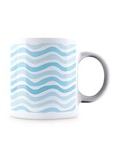 Multicolor Wavy Style Pattern Ceramic Mug - By