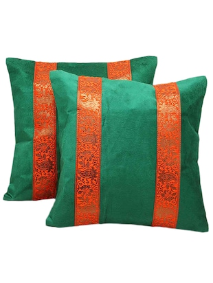 Brocade Striped 2Pc. Decorative Cushion Covers Set 857