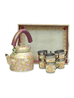 Multicoloured Hand Painted Tea Set