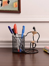 Black Wrought Iron Pen Stand - By