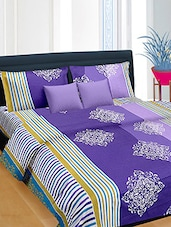Multicolored printed cotton bedsheet set -  online shopping for bed sheet sets