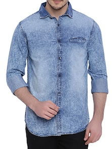 615fcffcf4 Buy Light Blue Denim Casual Shirt by Bandit - Online shopping for Casual  Shirts in India