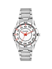 GRANDLAY GL-1092 DESCENT WHITE DIAL WATCH FOR MENZ -  online shopping for Men Analog Watches