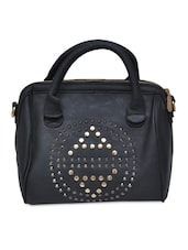 Black PU Casual Hand Bag - By