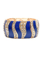 Gold Metallic Studded Bracelet - By