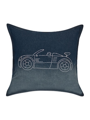 Sanaa Dark Blue Cushion Cover 40x40cms