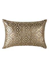 Gold Cotton Cushion Cover - By